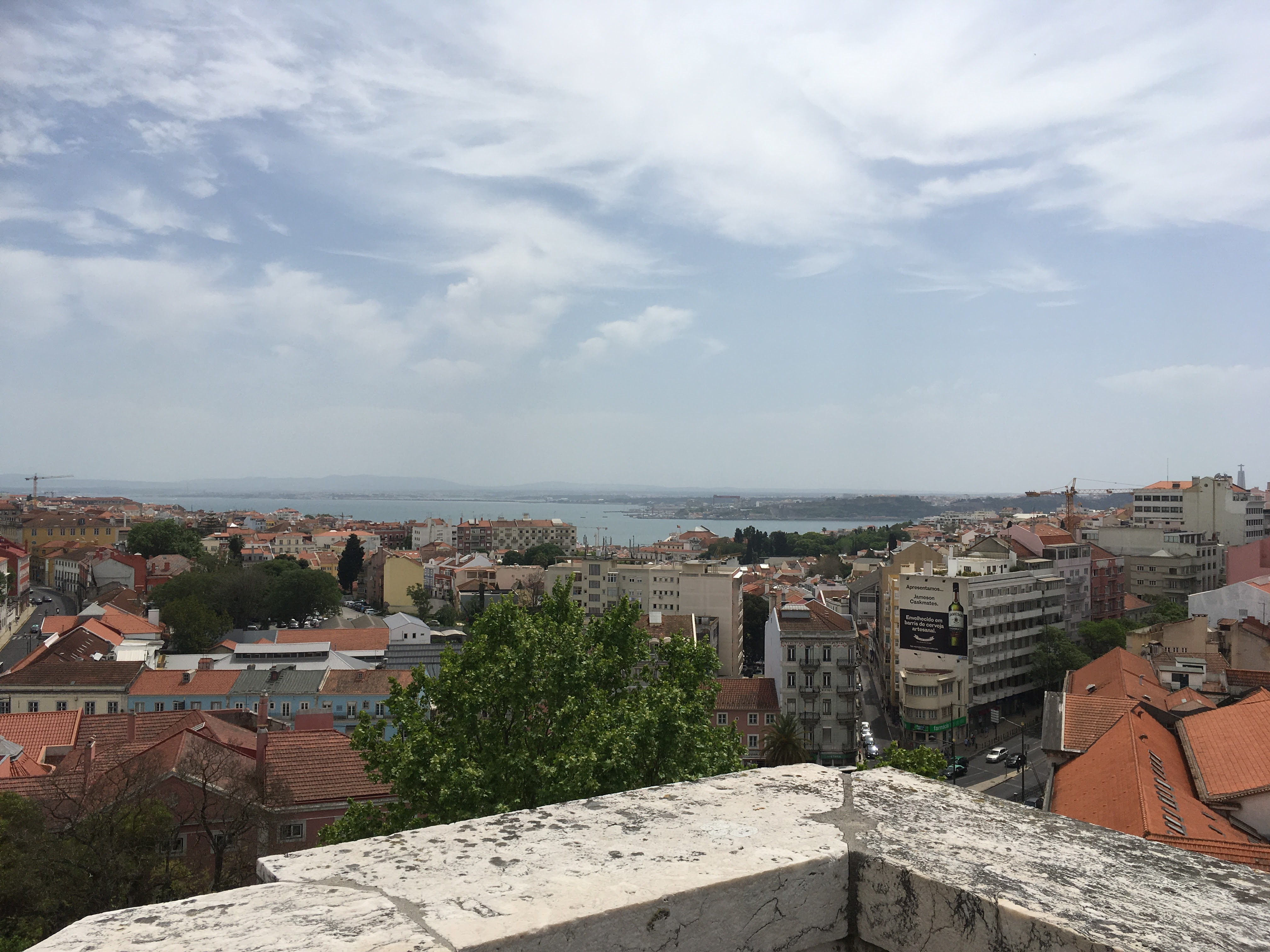 On top of the Aqueduct in Lisbon Portugal